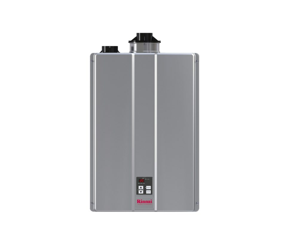 Rinnai's tankless water heater offers flexible and fast installation, according to the company. Image courtesy of Rinnai