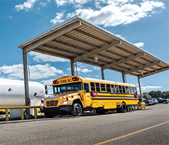 PERC says school transportation will be its highest priority for propane autogas marketing, outreach and communications efforts in 2019. Photo courtesy of the Propane Education & Research Council.