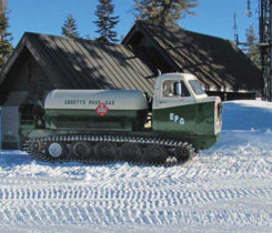 The snowcat bobtail from Ebbetts Pass Gas Service. Photo courtesy of Ebbetts Pass Gas Service