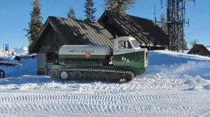 The snowcat bobtail from Ebbetts Pass Gas Service. Photo courtesy of Ebbetts Pass Gas Service