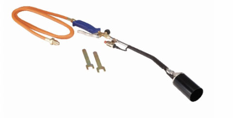 The recalled Greenwood propane torch with push button igniter. Photo courtesy of Consumer Product Safety Commission
