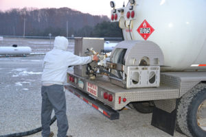 Propane delivery photo by Joe McCarthy