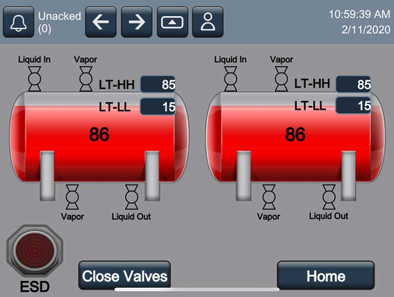 From Superior Energy System's terminal automation control system. Photo courtesy of Superior Energy Systems