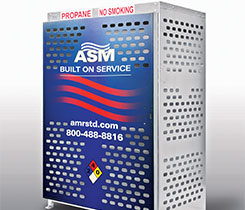 The wrap serves as a quality alternative to stickers or gator board signs, ASM says. Photo courtesy of American Standard Manufacturing