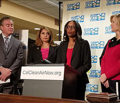 From left, state assemblyman Patrick O'Donnell (D-Long Beach), state assemblywoman Sharon Quirk-Silva (D-Orange County), Joy Alafia and California Sen. Cathleen Galgiani (D-Stockton). Photo courtesy of Joy Alafia