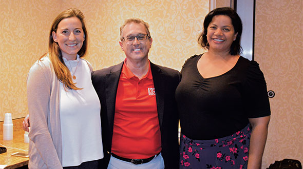 The Propane Education & Research Council (PERC) held the National Safety & Trainer's Conference in January in San Antonio. LP Gas attended the event and captured this photo of PERC's Elena Scott, left, Stuart Flatow and Courtney Gendron. Soon after the event, Flatow announced he was stepping down as the vice president of safety and training. Photo by Joelle Harms
