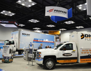 The Propane Education & Research Council booth at The Work Truck Show in Indianapolis Photo by Brian Richesson