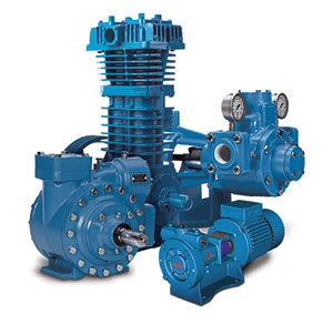 Blackmer sliding vane pump, regenerative turbine pump and reciprocating gas compressor. Photo courtesy of Blackmer