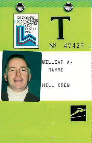 Mahre's credentials for the 1980 Winter Olympics in Lake Placid. New York. Photo courtesy of the Mahre family.