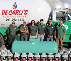 DeCarli's Propane donated tanks and fuel to those California residents effected by wildfires. Photo courtesy of DeCarli's Propane
