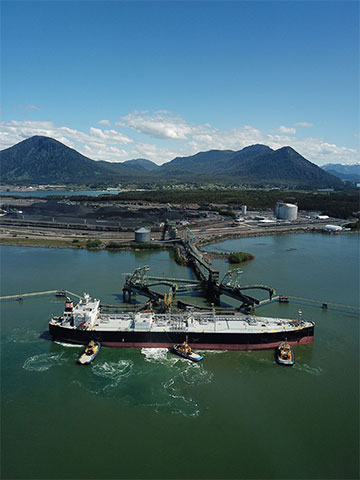 The Ridley Island Propane Export Terminal. Photo courtesy of AltaGas