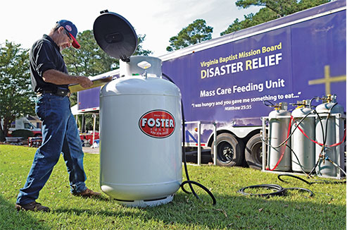 Foster Fuels, a third-generation and family-owned-and-operated energy provider based in Brookneal, Virginia, deploys its Mission Critical division during natural disasters. Photo courtesy of Foster Fuels.