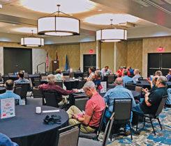 Laney leading a presentation for Oklahoma propane marketers. Photo courtesy of Paula Laney