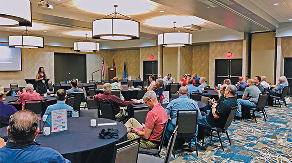 Laney leading a presentation for Oklahoma propane marketers. Photo courtesy of Paula Laney