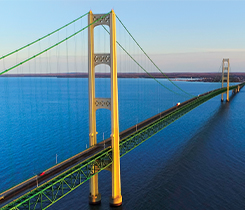 Mackinac Bridge photo by JamesBrey/iStock/Getty Images Plus/Getty Images