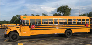 Kansas City Public Schools says the buses will reduce NOx emissions by over 55,000 pounds and particulate matter by about 500 pounds each year compared to the diesel buses it replaces. Photo courtesy of Roush CleanTech.