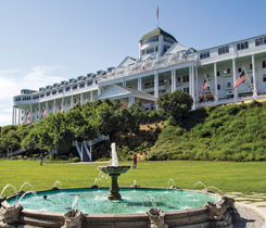 Of the 11 wooden-structured hotels in the United States with over 200 rooms, the Grand Hotel is the only one under private ownership. Photo: iStock.com/ehrlif