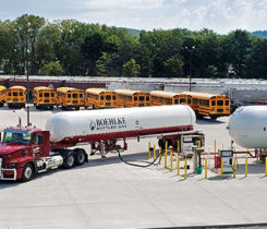 Boehlke Bottled Gas Corp. has a combined 64,000 gallons worth of storage to fill GO Riteway's vehicles. Photo courtesy of Boehlke Bottled Gas Corp.