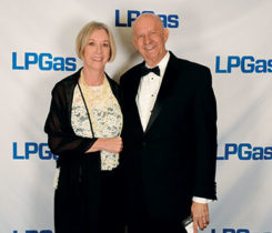 Charlie and Teri Ory of Family Propane at the 2018 LP Gas Hall of Fame induction ceremony in Atlanta. Photo by LP Gas