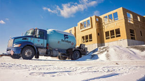 Propane provides relief from the cold for construction workers. Photo Courtesy of Ferrellgas