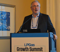 Mike Sloan, a managing director at ICF, addresses attendees of the LP Gas Growth Summit. Photo by LP Gas staff