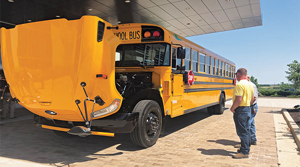Autogas – the rise of propane school buses in particular – is making inroads in some states. Photo courtesy of Missouri Propane Gas Association.