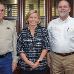 Gas Equipment Co. welcomed LP Gas during our trip to Texas. Pictured here are, from left, J.R. Anderson, Lori Kirk and Russ Ridings. The company, headquartered in Dallas, is a warehouse distributor of in-process, transfer and control equipment for LP gas marketers. Photo by Brian Richesson