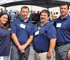 Bergquist, a wholesale propane equipment distributor, holds an open house at its Toledo, Ohio, headquarters. Shown here from last year's 14th annual event are, from left, Lauren Clark, Don Montroy, Gary Bozigar and Joe Montroy. Photo by LP Gas Staff
