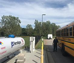 Propane bus refueling image
