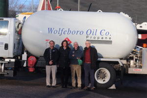 From left are Josh Anderson, vice president of marketing and business development for Eastern Propane & Oil; Meghan Anderson, chief culture officer at Eastern Propane & Oil; Howie Bean, owner and president of Wolfeboro Oil Co.; Chuck Clement III, owner and president of Eastern Propane & Oil. Photo courtesy of Eastern Propane & Oil