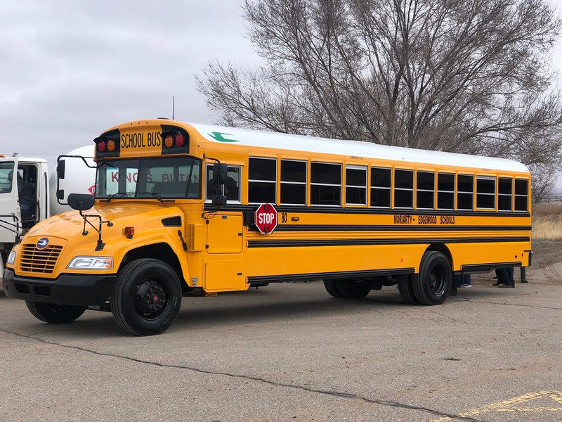 One of Moriarty Edgewood School District's new propane buses. Photo: ROUSH CleanTech