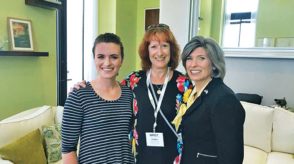 Grooms attended NPGA's 2019 Propane Days in Washington, D.C., alongside Sen. Joni Ernst, right, and her daughter, Libby Ernst. Photo courtesy of Deb Grooms