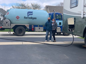 Ferrellgas delivered propane for one of many RVs across the country that provided a safe space for frontline workers. Photo: Ferrellgas