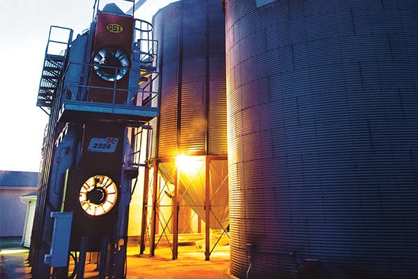 Many grain dryer operators prefer propane. Photo courtesy of Swanson Russell