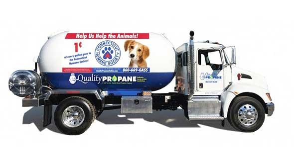 Quality Propane puppy truck Humane Society