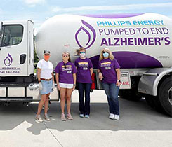 Phillips Energy will donate to the Alzheimer's Association through the company's Walk to End Alzheimer's team. Pictured (left to right): John & Tina Phillips, Elizabeth McCormick, Erin Ciccone, Barbara Ball and Nora Wood. Photo courtesy of Phillips Energy