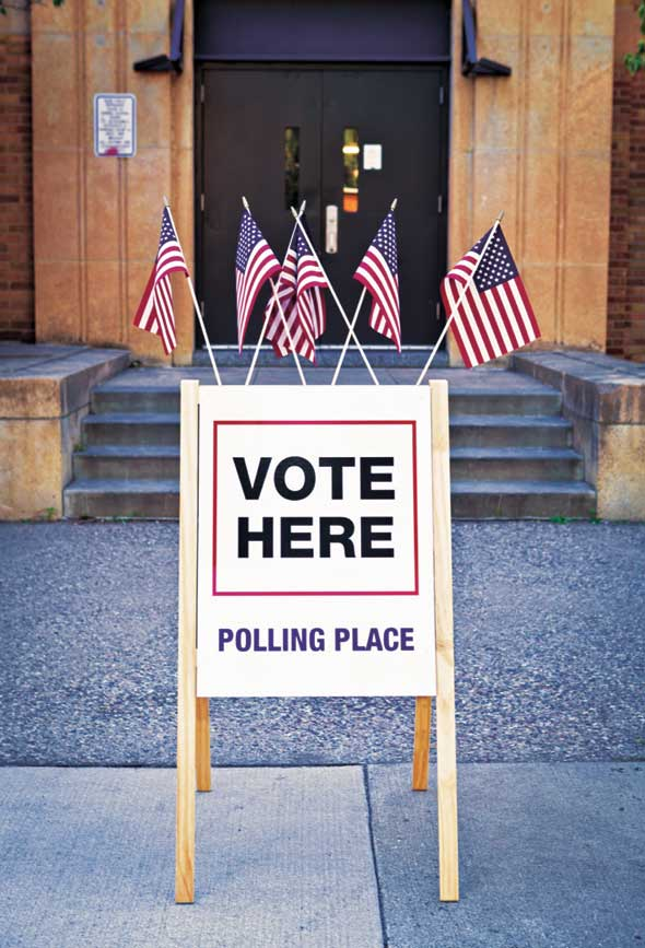 Election Day polling place