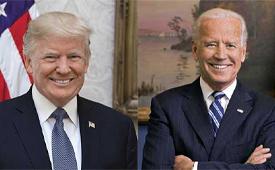 Headshots: Donald Trump and Joe Biden