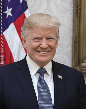President Donald Trump headshot