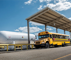 School bus photo courtesy of the Propane Education & Research Council