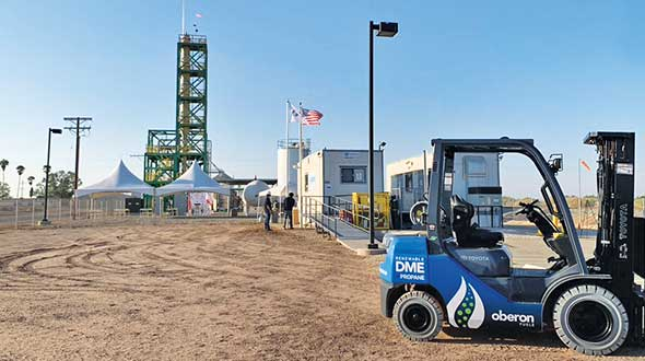 Oberon Fuels has partnered with propane industry companies to produce and distribute DME. Photo courtesy of Oberon Fuels