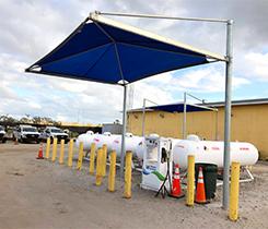 Refueling station photo courtesy of Roy Jorgensen Associates & Alliance AutoGas