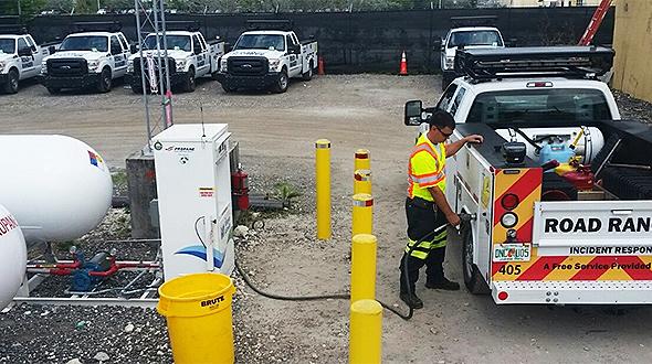 Autogas fill photo courtesy of Roy Jorgensen Associates & Alliance AutoGas