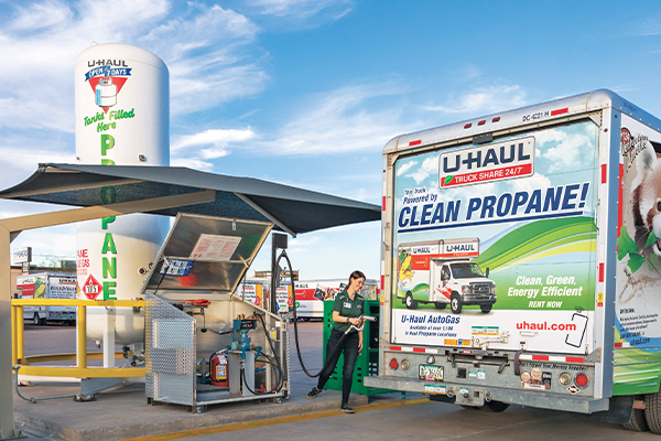 U-Haul autogas truck photo courtesy of U-Haul International