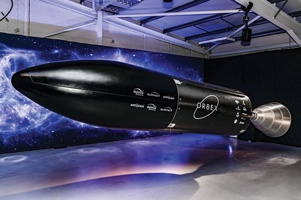 Aerospace company Orbex is turning to renewable propane to power space rockets. Photo courtesy of Orbex