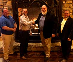 The Missouri Propane Education & Research Council installed its officers and directors for 2021. Officers are, from left: John Baucom, treasurer; Nick Goodrich, past chair; Mark Porth, chair; and James Greer, vice chair. Photo by Steve Ahrens