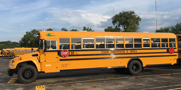 Bus photo courtesy of Student Transportation of America