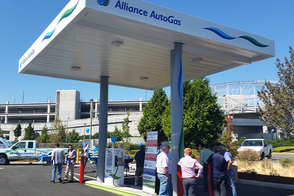 Autogas refueling station photo by Christina Suarez