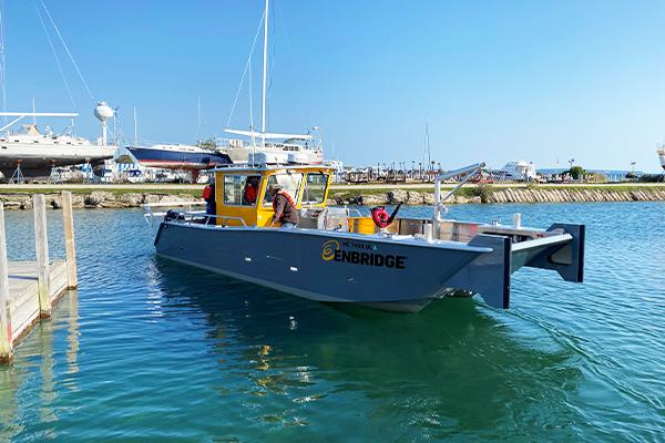 Boat photo courtesy of Enbridge