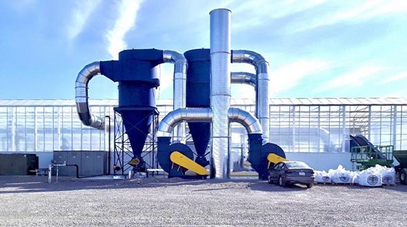 Hemp dryer photo courtesy of IEC Thermo